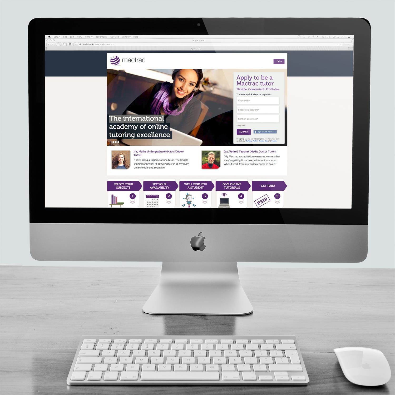Mactrac website on Desktop