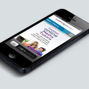 Maths Doctor website on mobile