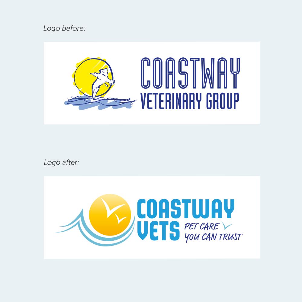 Coastway vets logo redesign
