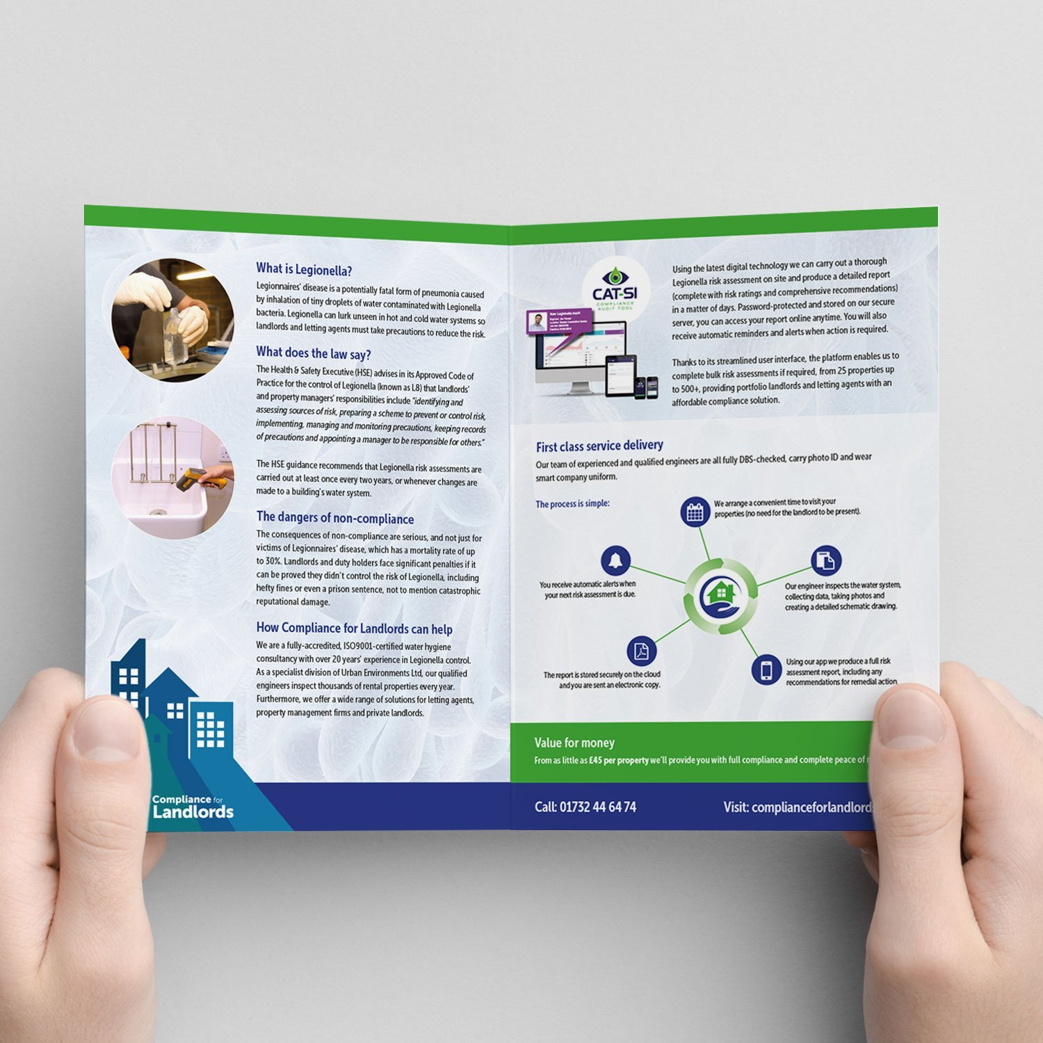 Print Design - Compliance for Landlords leaflet