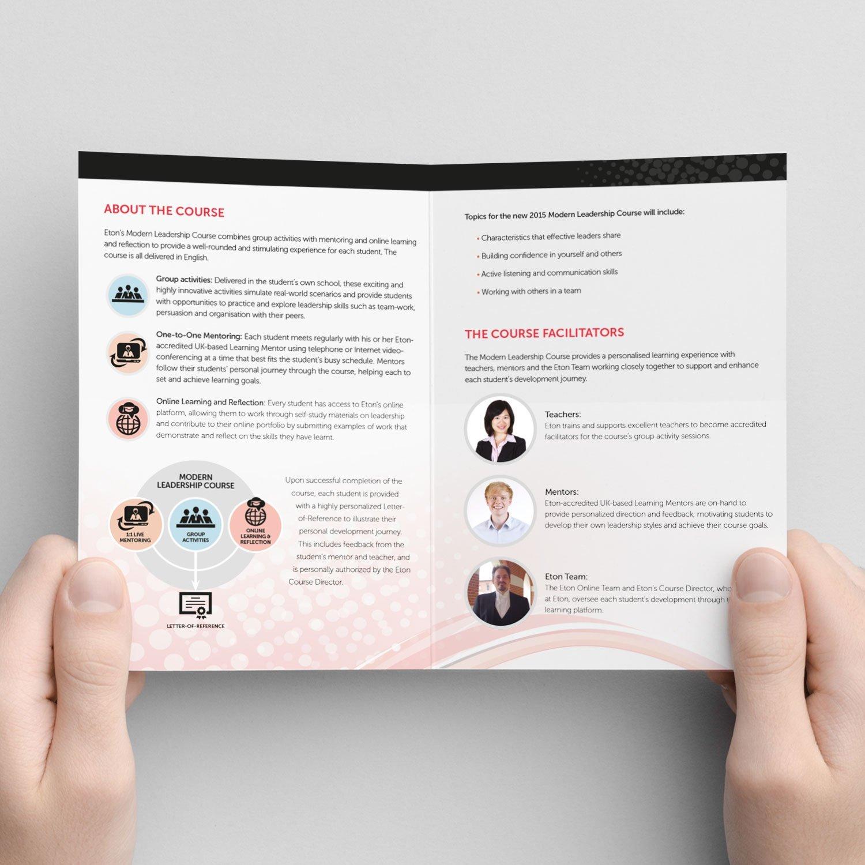 EtonX leaflet print design