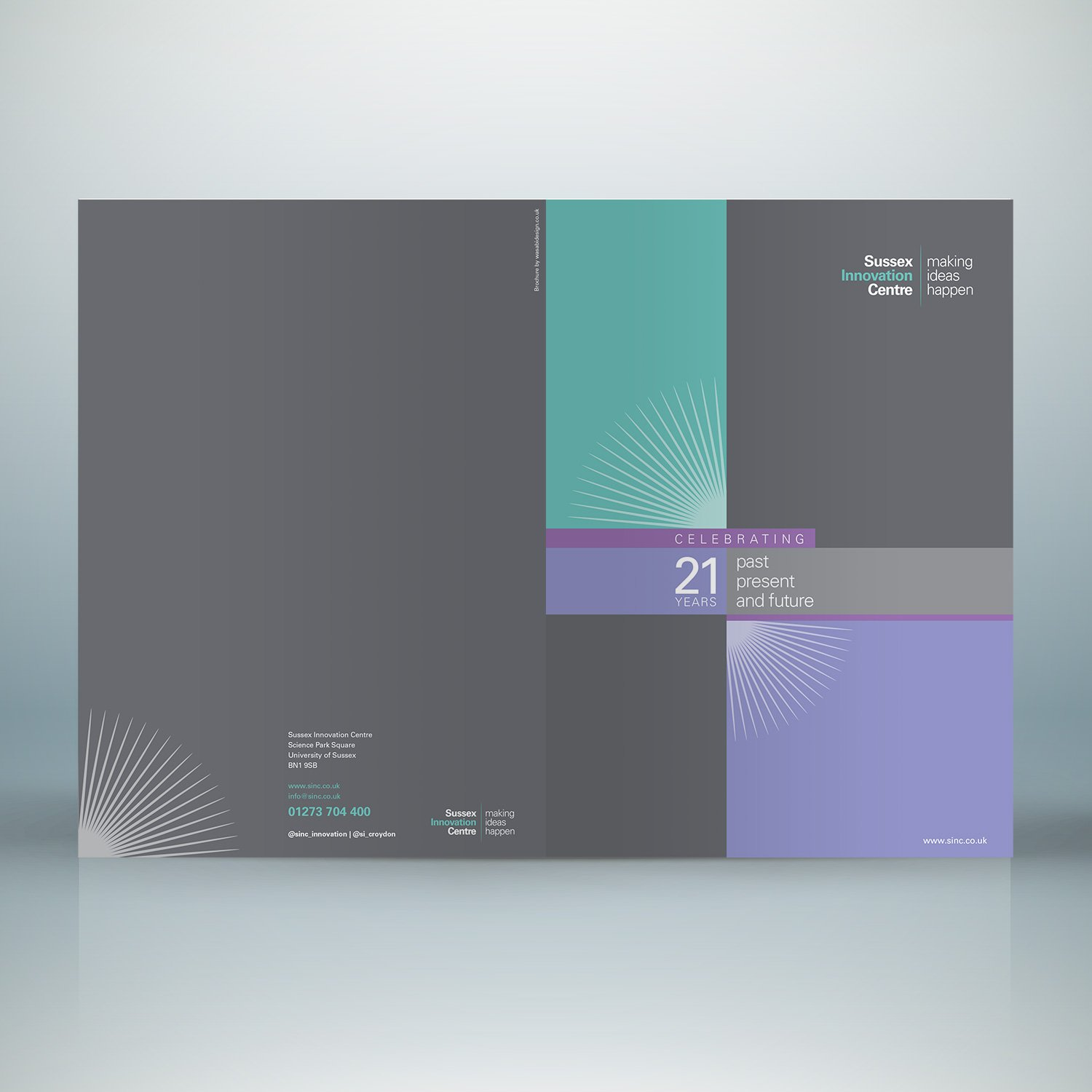 Sussex Innovation Centre brochure covers
